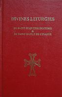portada roja de las Divinas Liturgias de San Juan Crisóstomo y de San Basilio de Cesarea