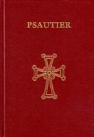 couverture rouge avec une croix dorée du Psautier selon la version grecque des Septante