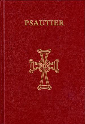 portada roja con una cruz dorada del Salterio según la versión griega de los Setenta