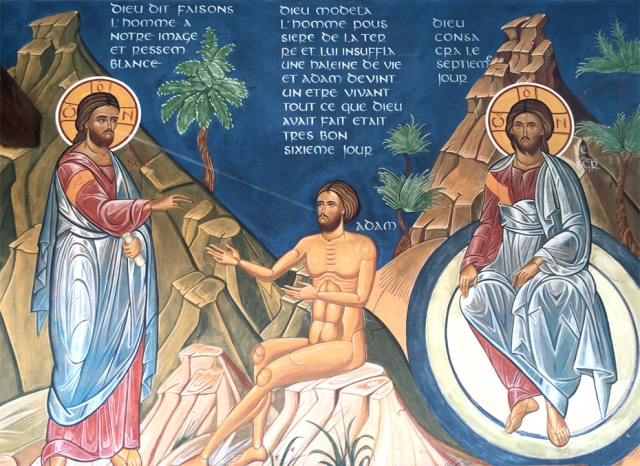 cloître : sixième jour de la création