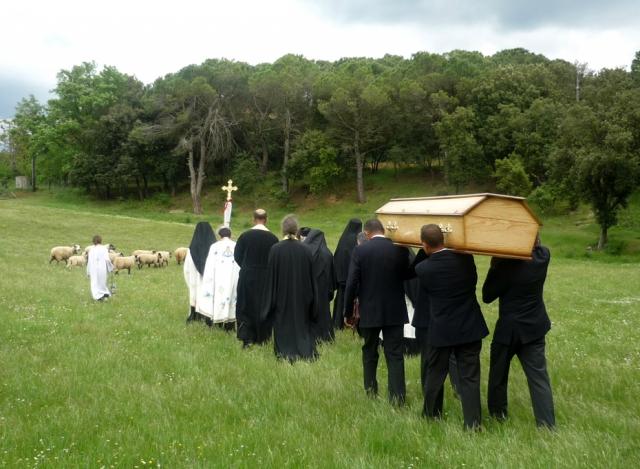 enterrement d'un moine